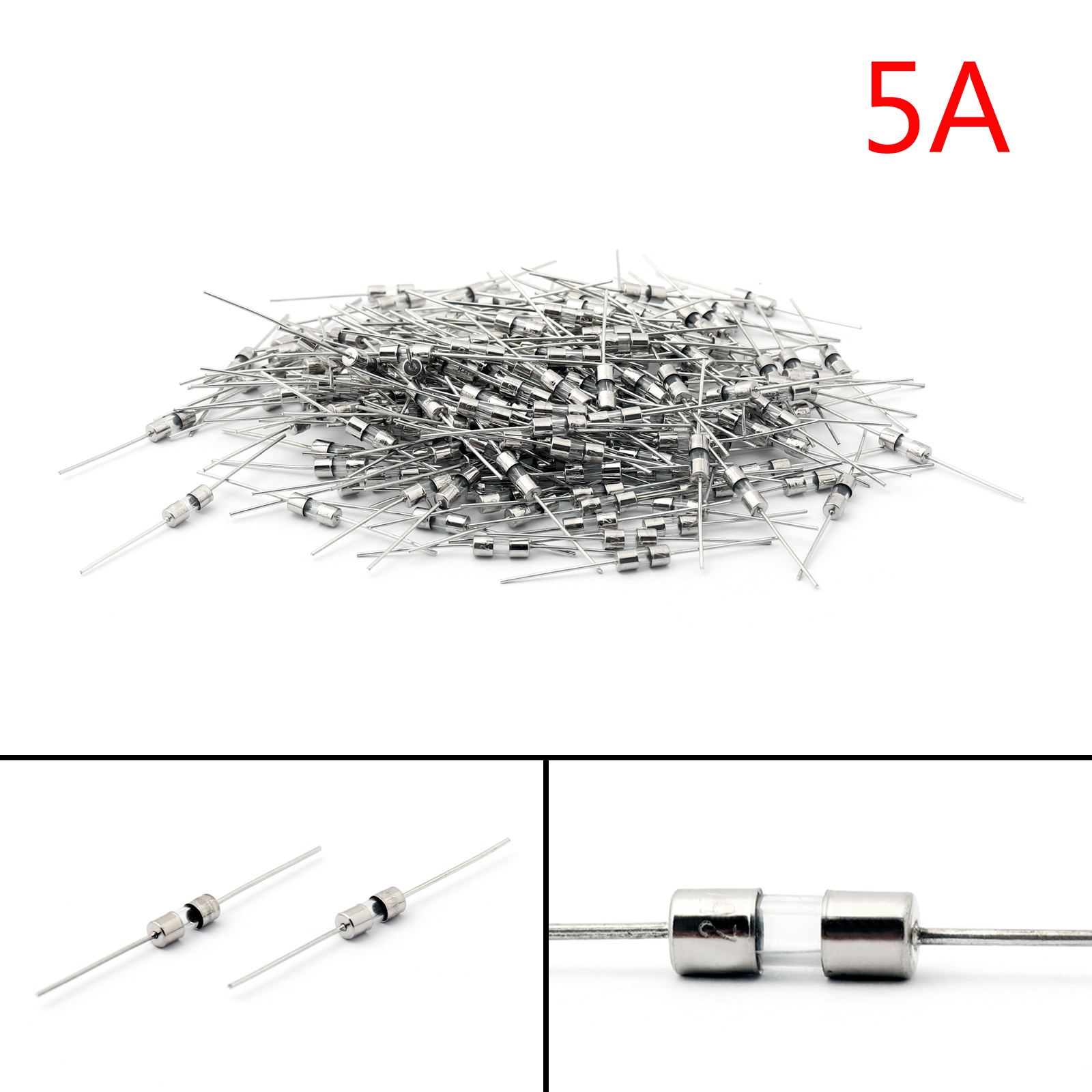 Glass Tube Fuse Metal Axial Single Hat Fast Blow Fuse 3