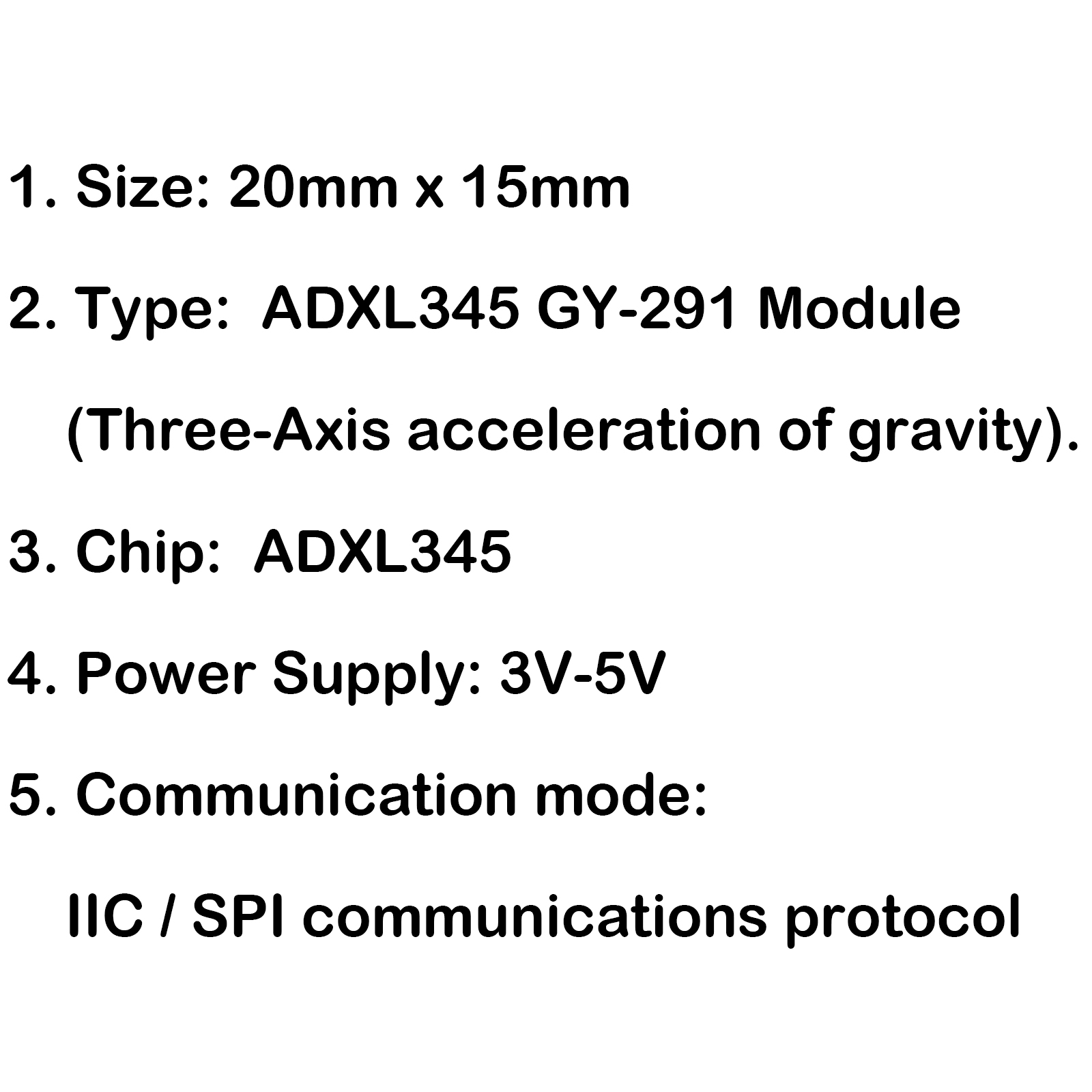 1pcs Adxl345 Gy 291 3 Axis Digital Acceleration Of Gravity
