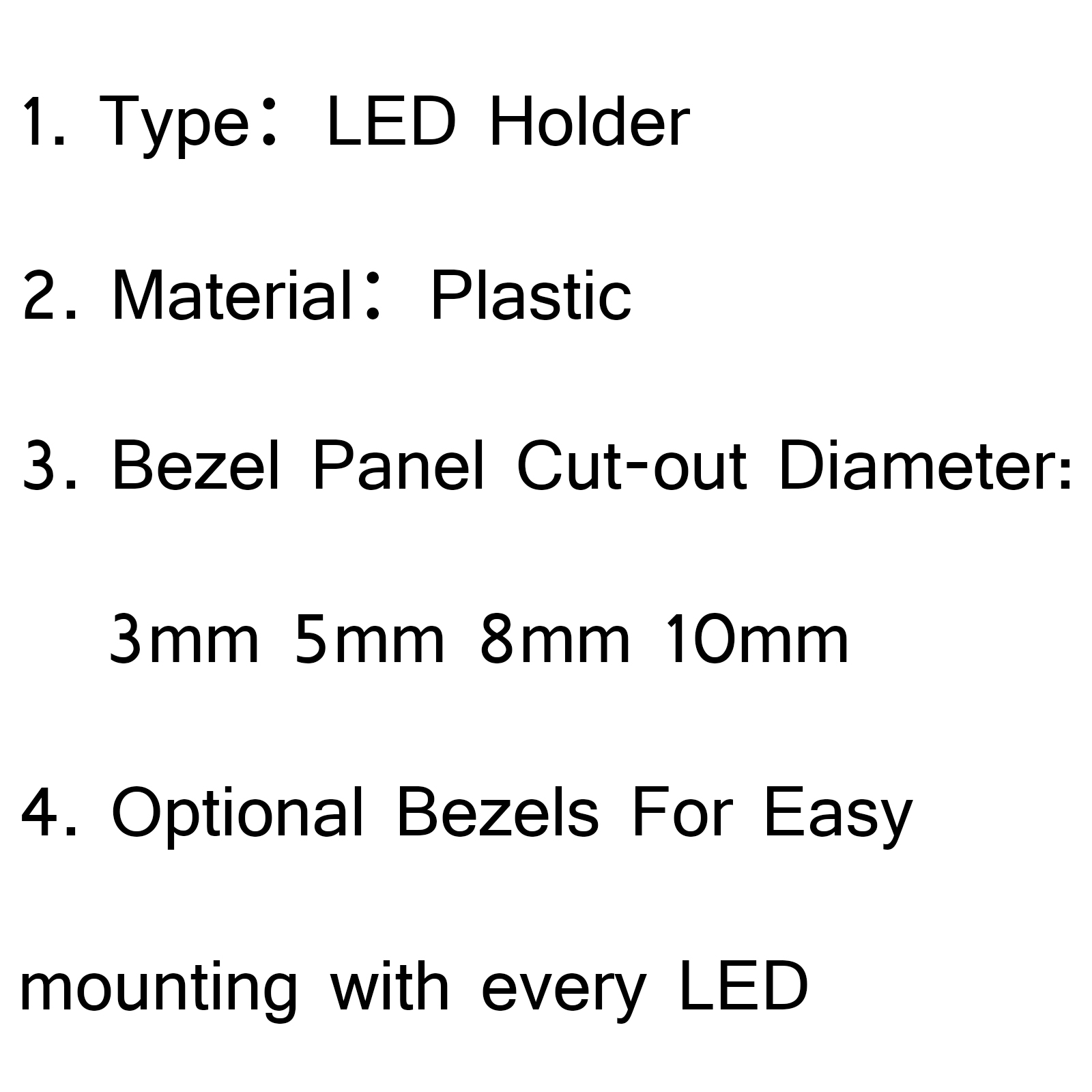 Pcs 8mm Led Holder Light Lamp Diode Plastic Bezel Sleeve Base Holders Bs5 B5
