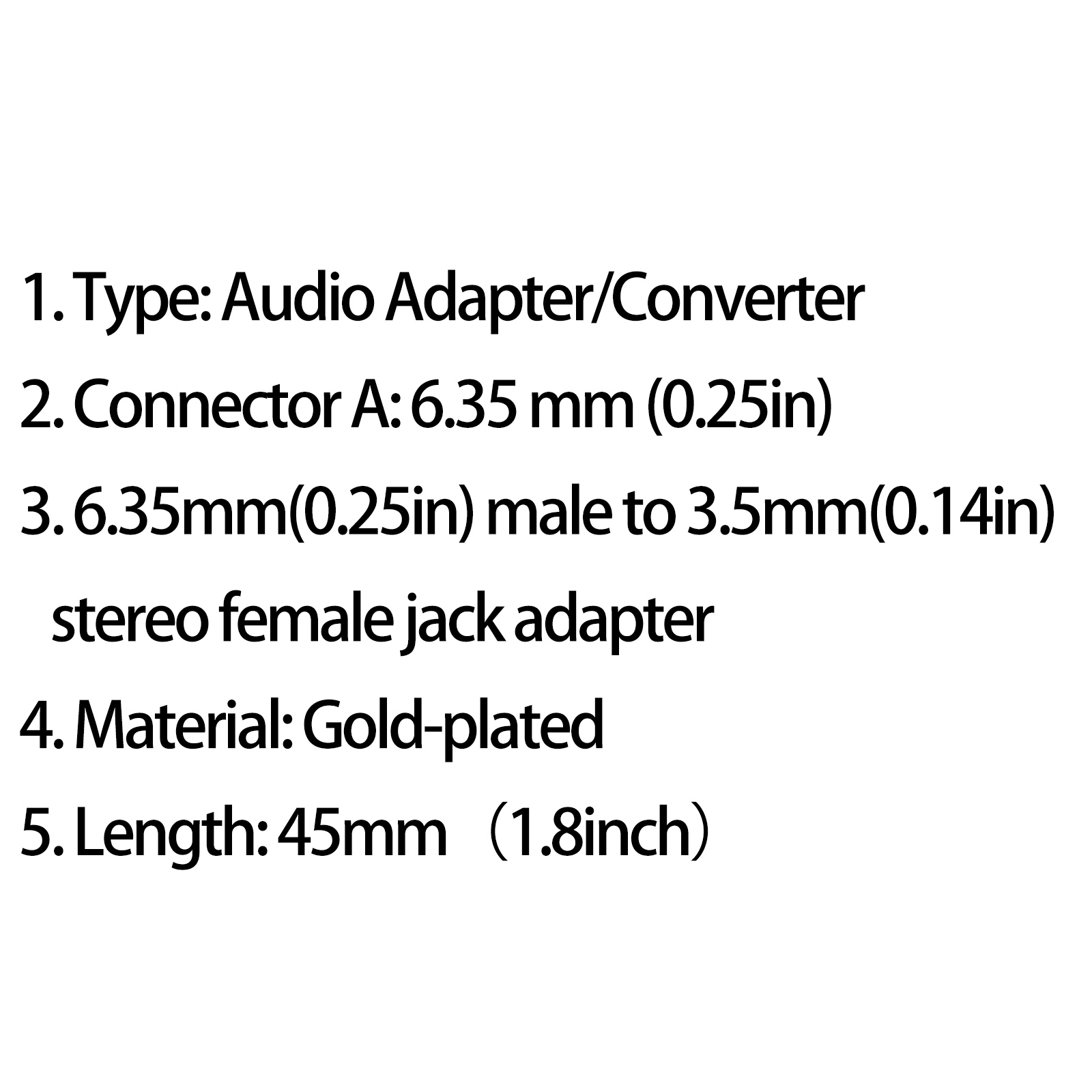 1pcs 6 35mm 1 4 Male Plug To 3 5mm 1 8 Female Trs Stereo