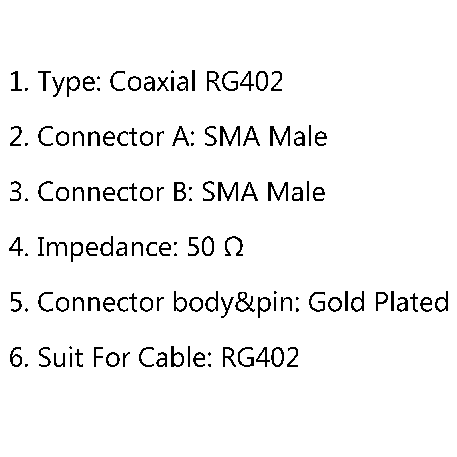 1X 30CM SMA Male to SMA Male RF Extension Coax Pigtail