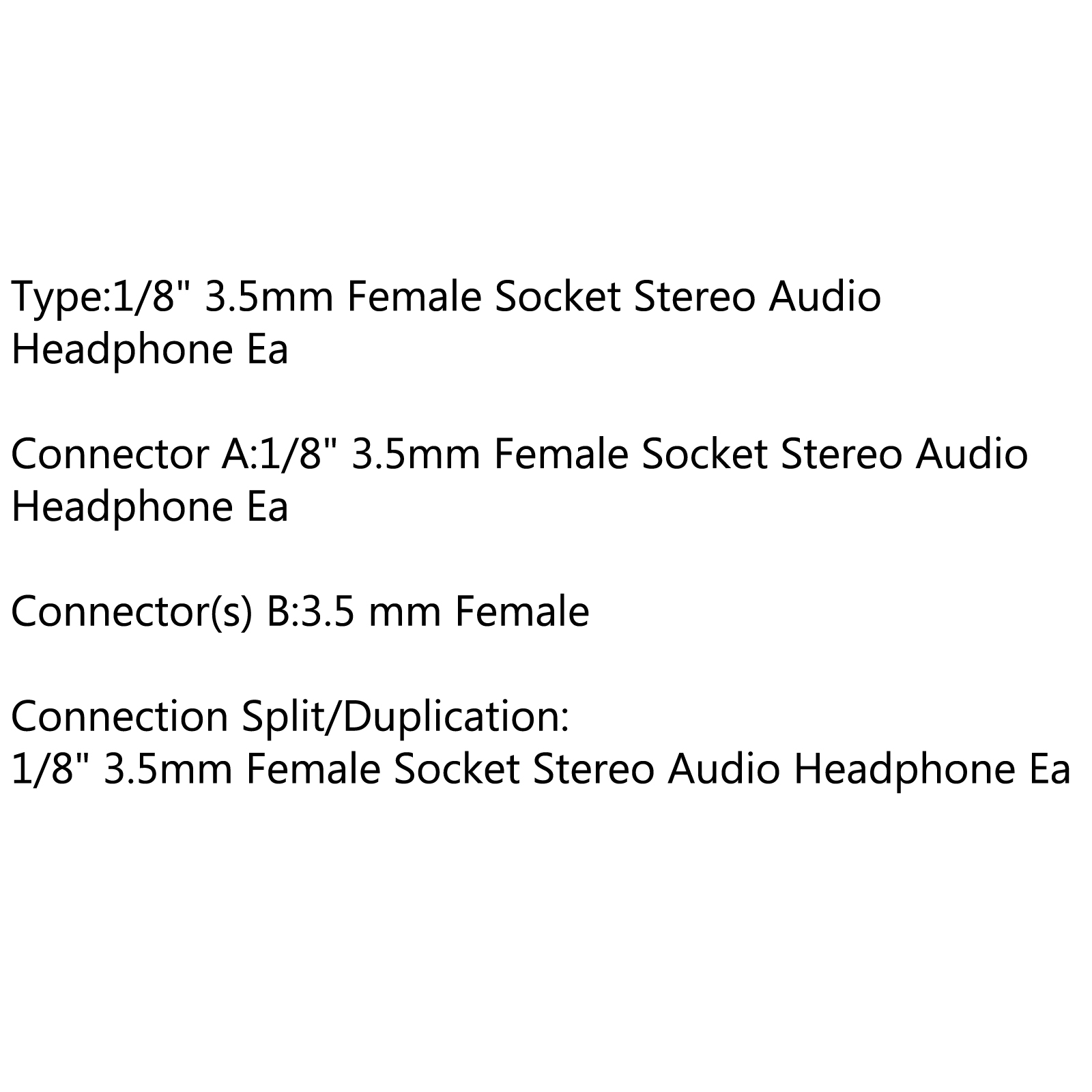 hight resolution of connector a 1 8 3 5mm female socket stereo audio headphone ea connector s b 3 5 mm female connection split duplication 1 8 3 5mm