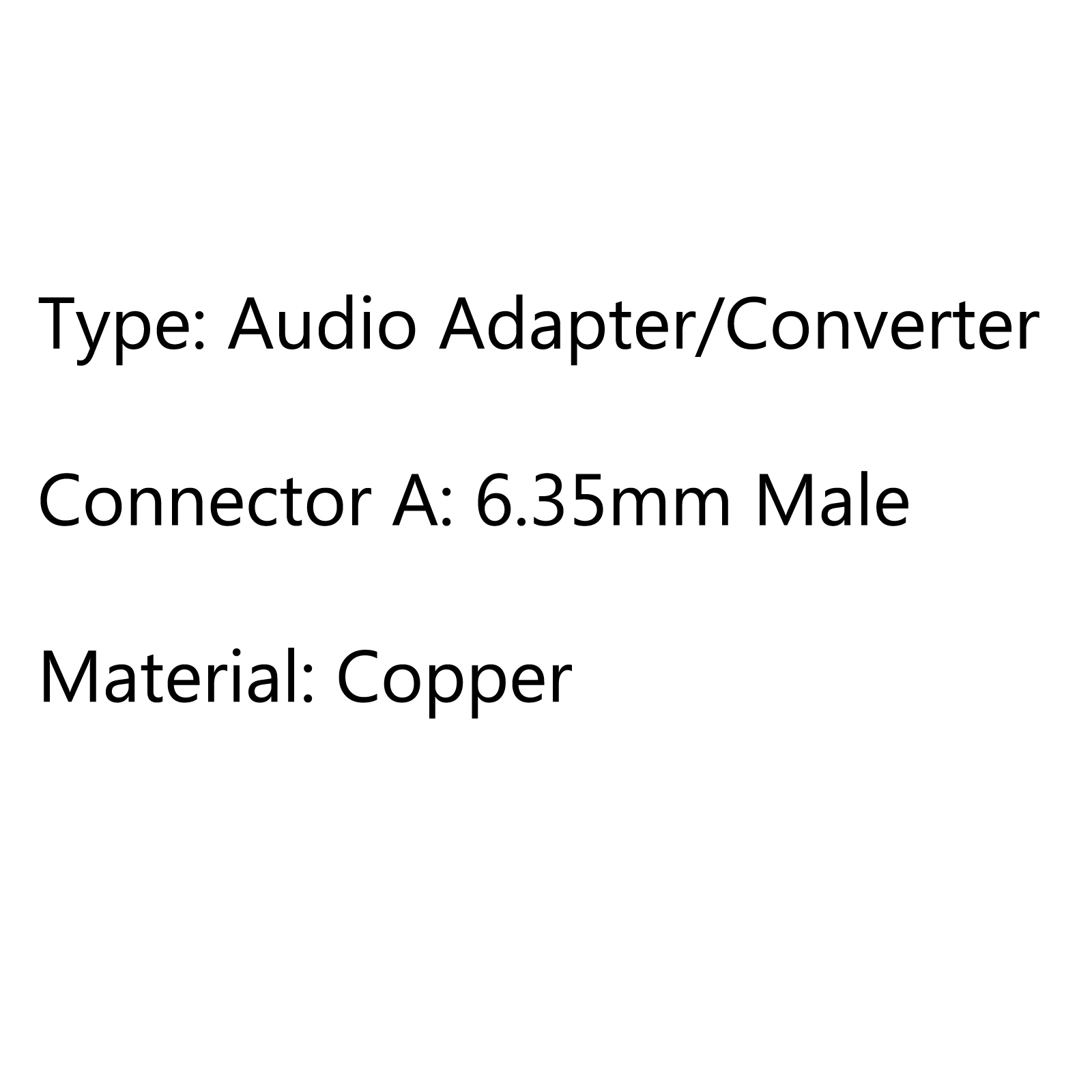 Copper Stereo 6 35mm Male Plug To 3 5mm Jack 3 5 Male