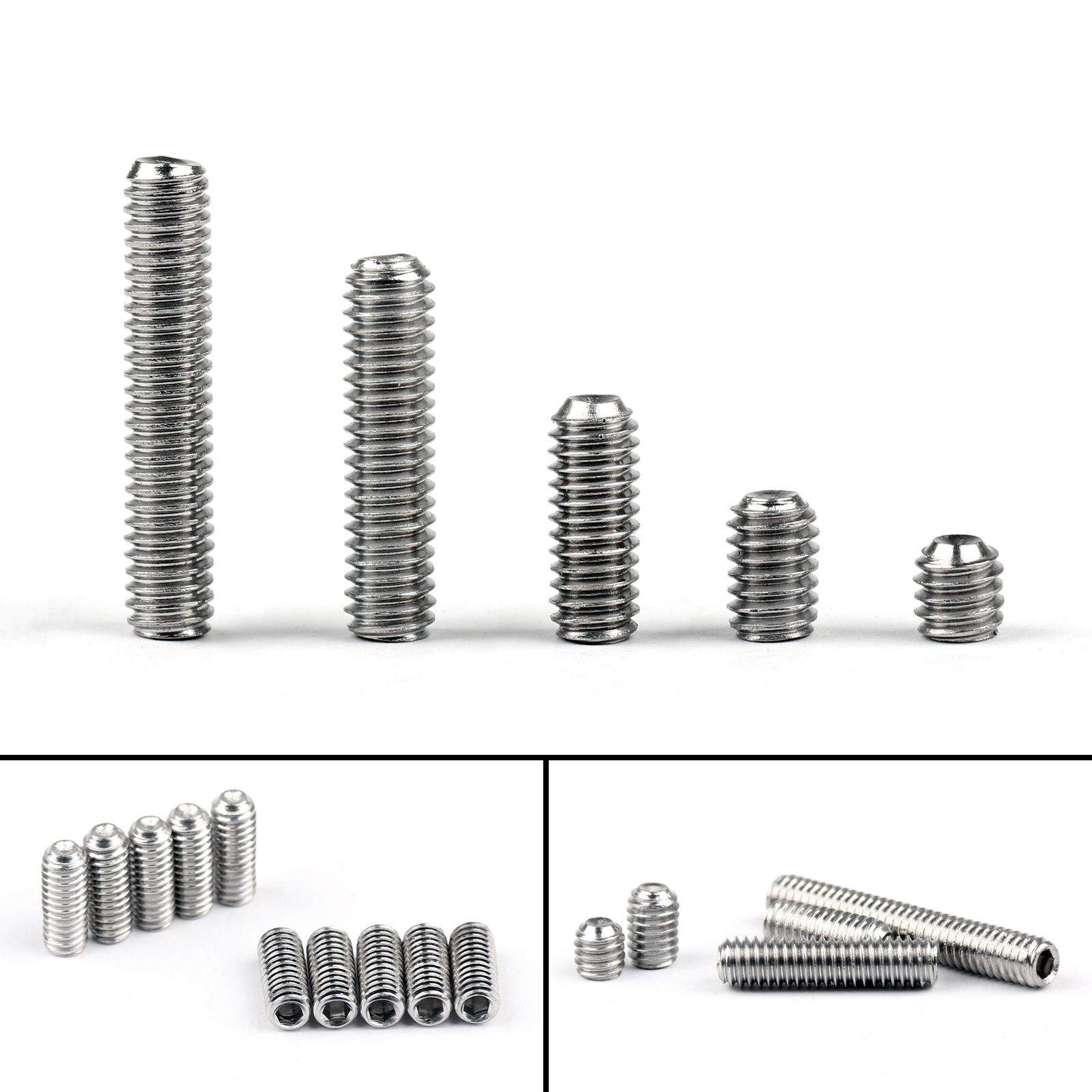 M2 304 Stainless Steel Hex Socket Set Screws With Cup