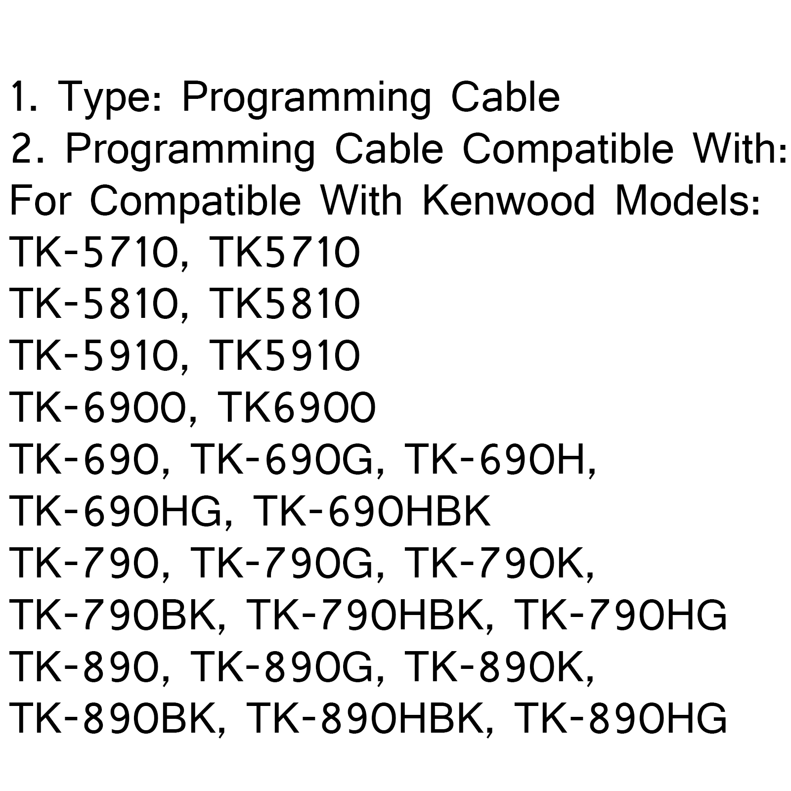 5xProgramming Cable For Kenwood Round TK-690H/G TK-890