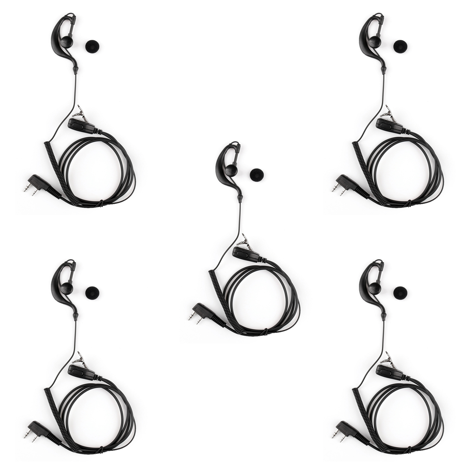 2pin G Shape Earhook Headset Earphone Mic Pour Baofeng