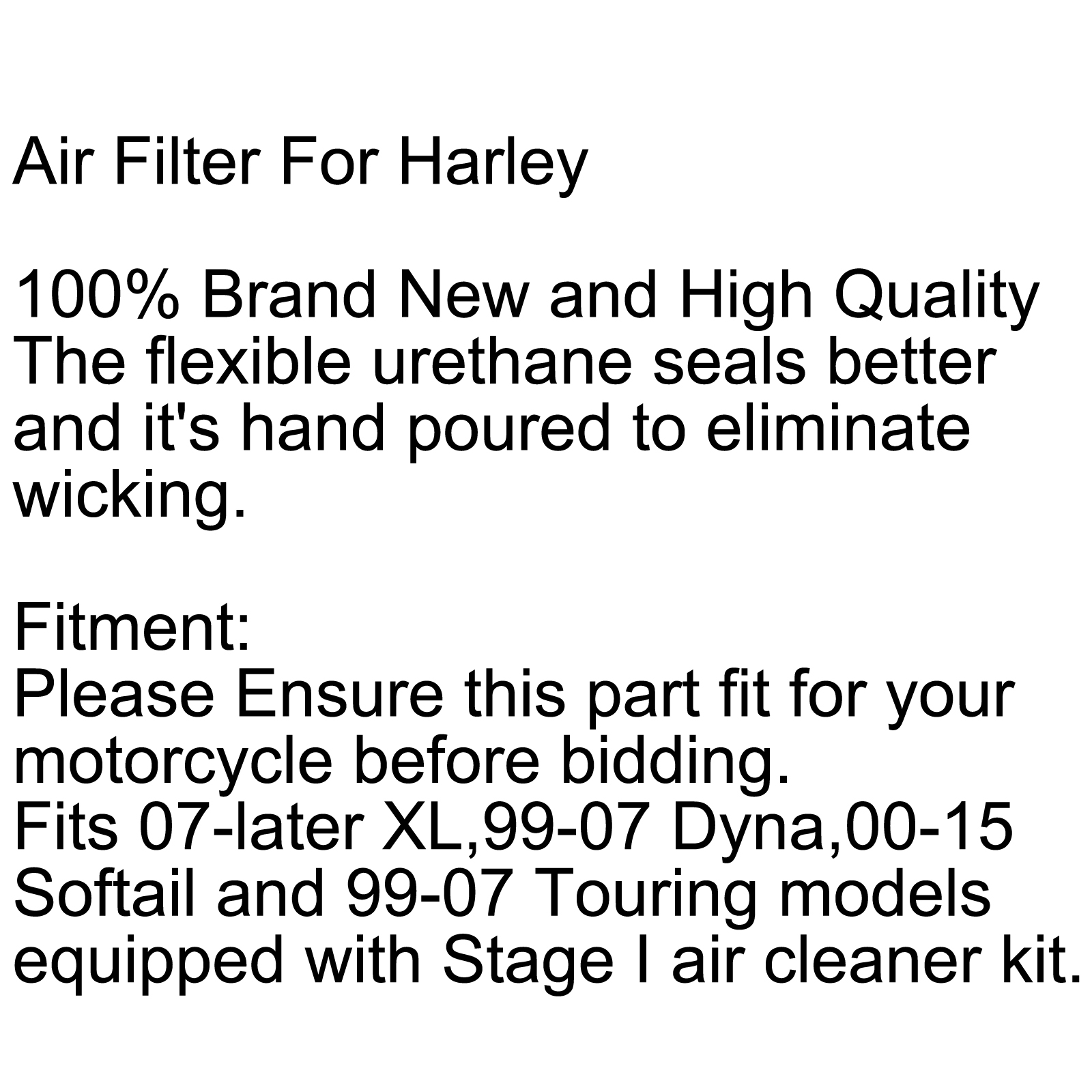 Air Filter Cleaner Element For Harley Dyna 883 1200 XL