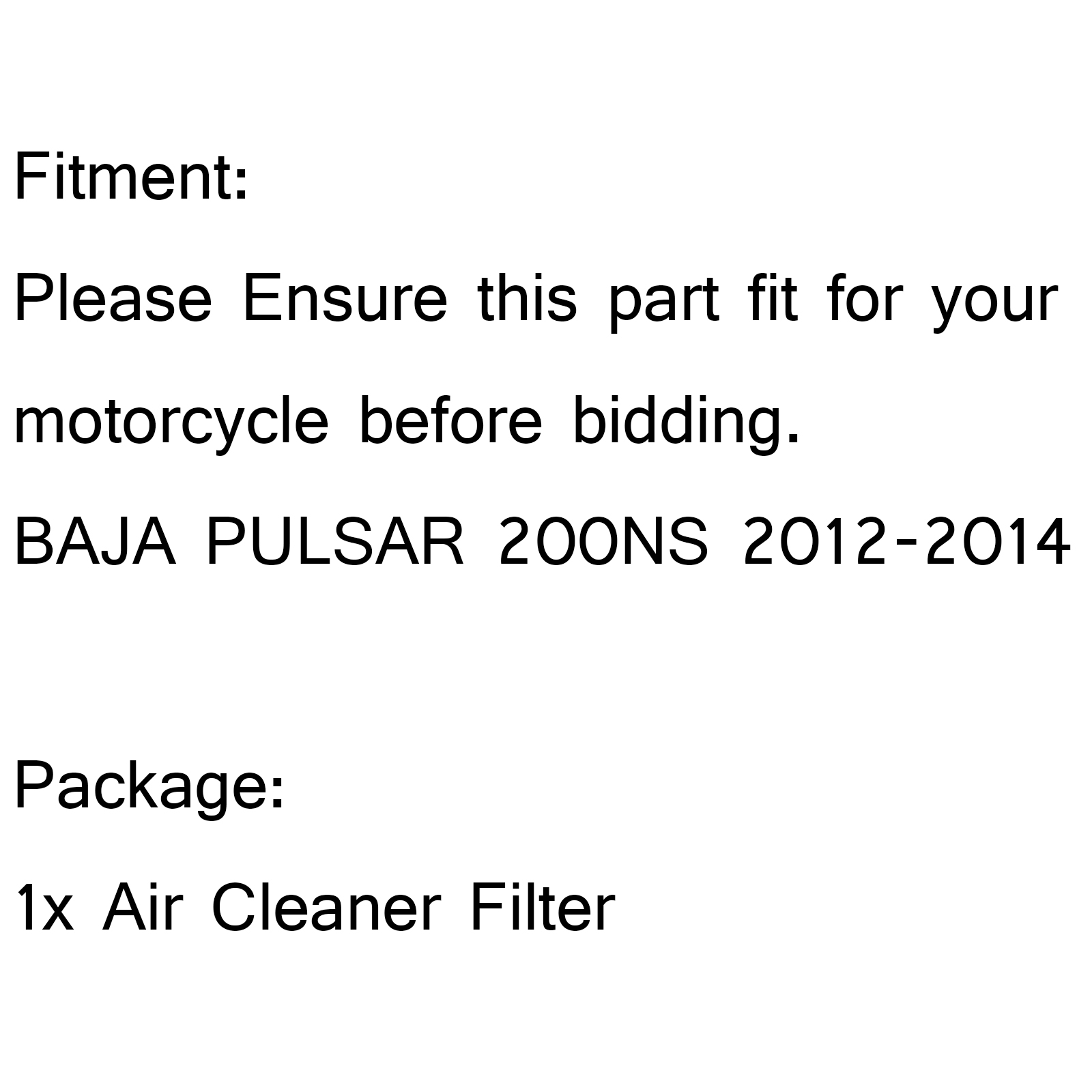 Factory Stock Style Replacement Air Filter For BAJA PULSAR