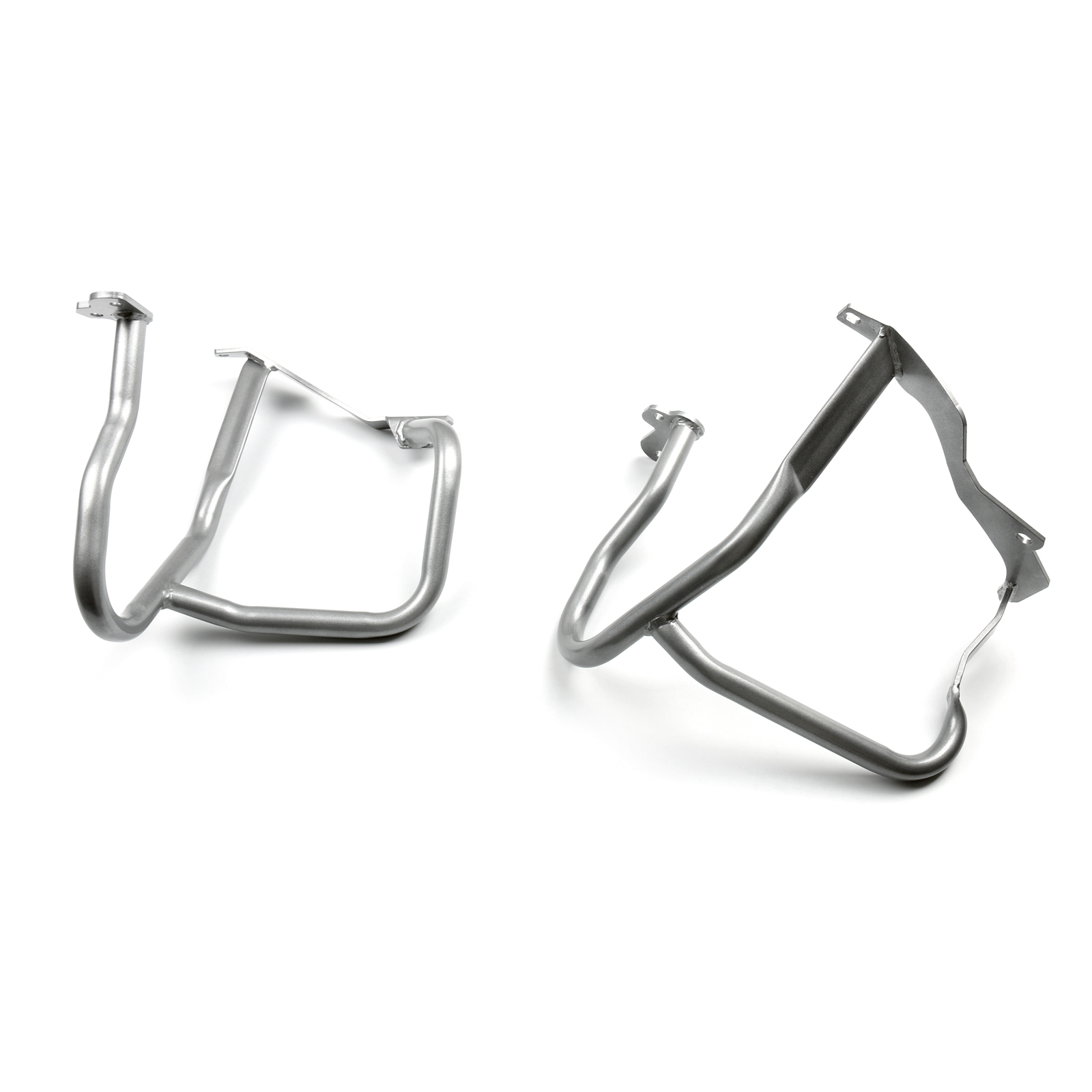 Front Silver Crash Bars Engine Guard Bumper Protector for