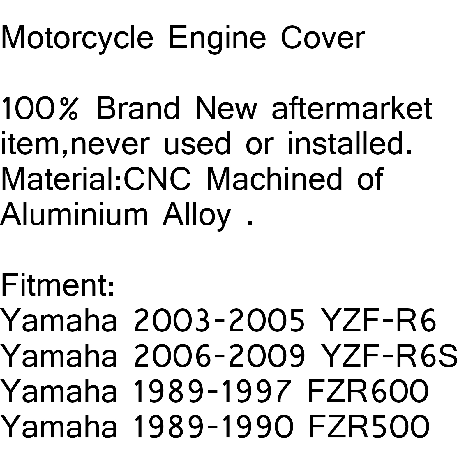 New Right Oil Pump Engine Cover For Yamaha YZF-R6 03-05