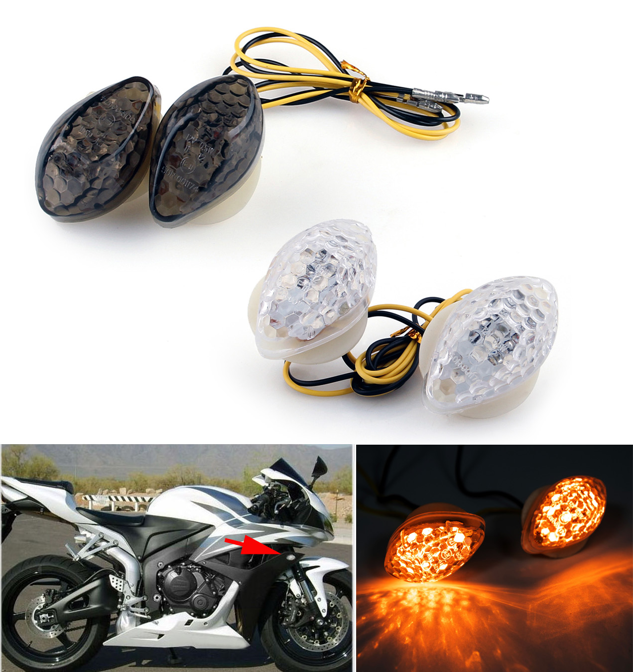 hight resolution of details about bright flush mount turn signals for honda cbr600 1000rr f4 i cbr900 929 954 ue