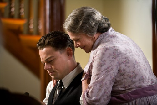 "(L-r) LEONARDO DiCAPRIO as J. Edgar Hoover and JUDI DENCH as Annie Hoover in Warner Bros. Pictures' drama €œ""J. EDGAR"",€ a Warner Bros. Pictures release."