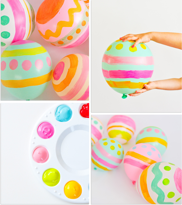 Easter Balloon Collage