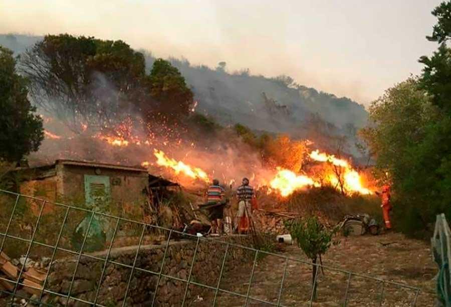 Incendio boschivo in località Fragaiolo