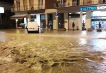 Maltempo ad Arezzo_via_romana