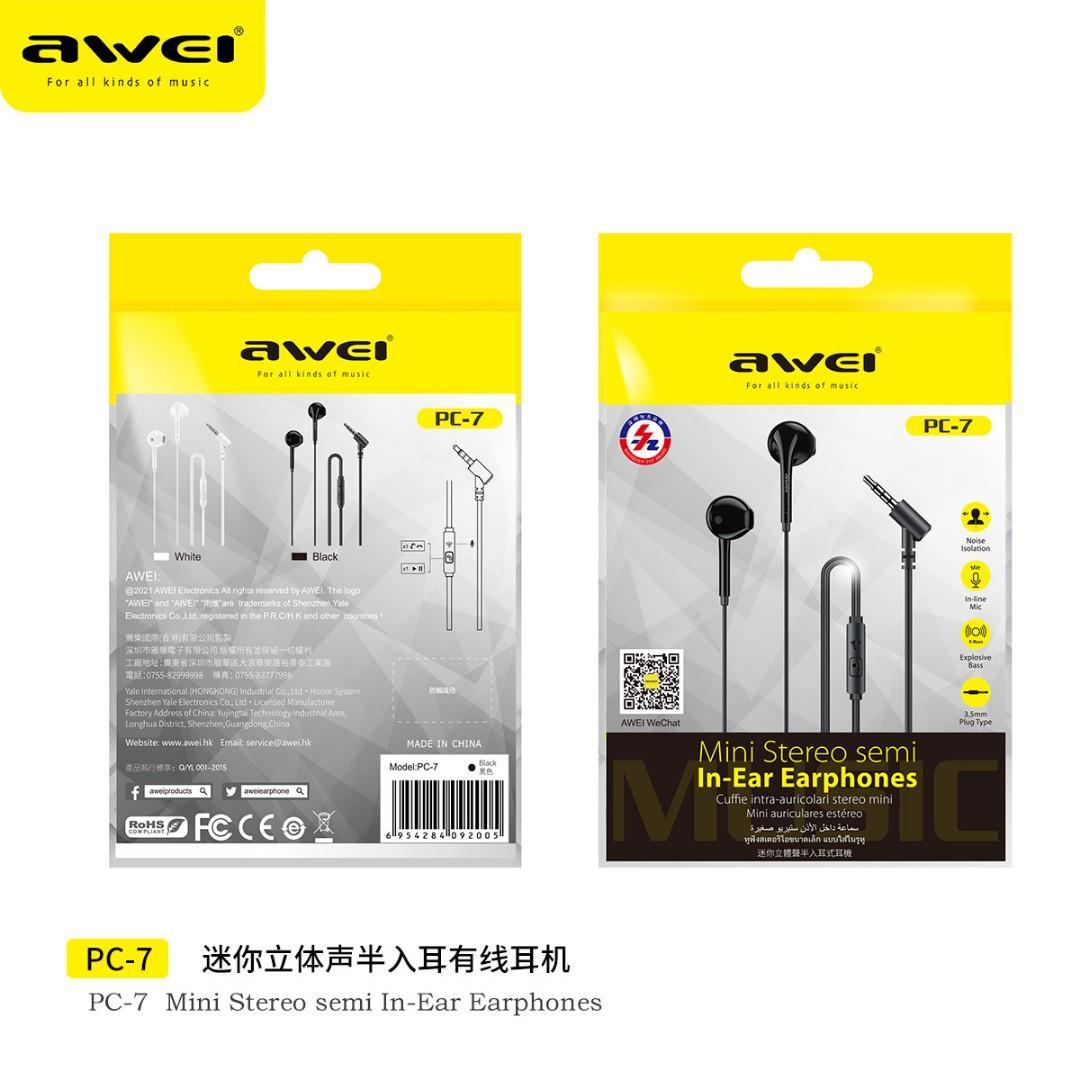 Awei PC-7 In-Ear Earbuds Wired Earphones