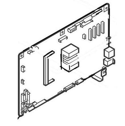 Okidata Oki 45816621 PCB: Maintenance FX756 (ODA MC873