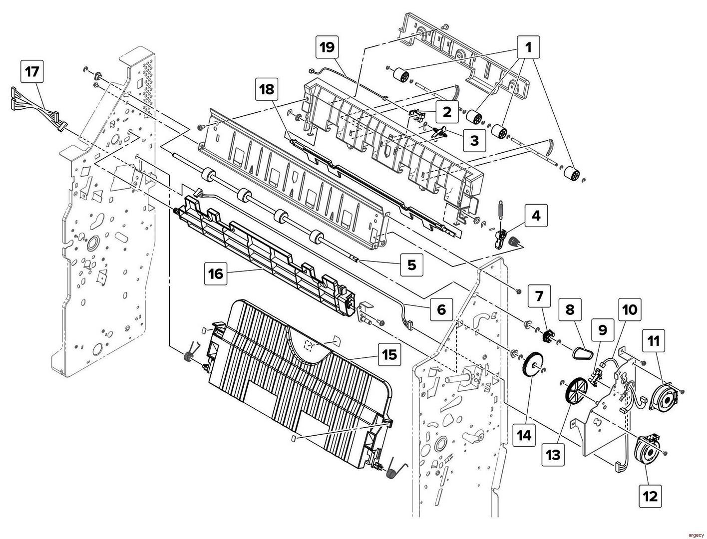 Lexmark MS911 MX911 XM91x Finisher Parts (4021-23x, 7421