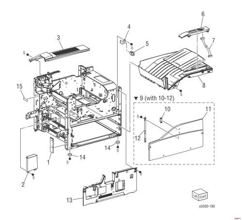 small resolution of 5500 printer part diagram