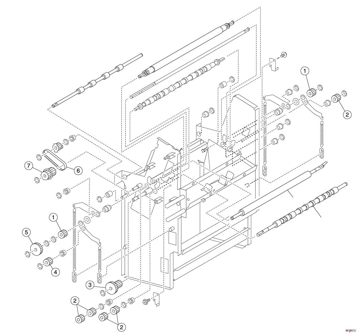 Lexmark X860de, X862de, & X864de Booklet Maker Finisher