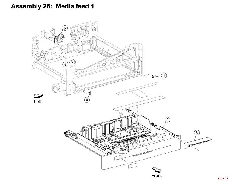 Lexmark Media Tray 1 40X6654