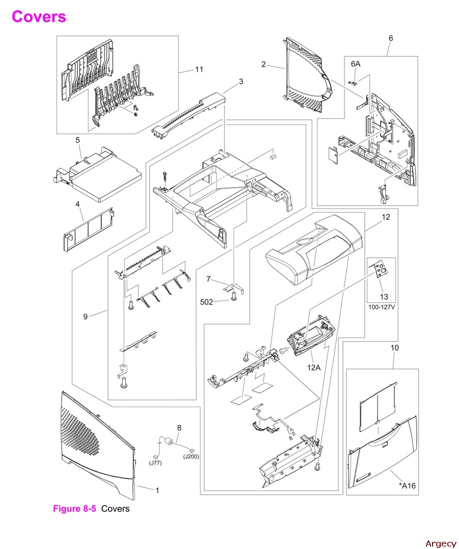 medium resolution of 5500 printer part diagram