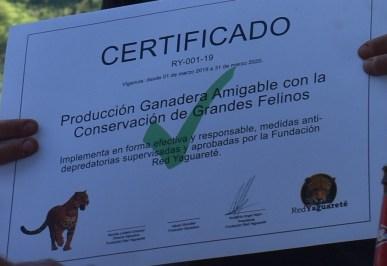 Certificado Fundacion Red Yaguarete