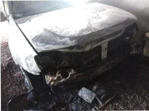 Jorge Bondar Vehiculo que prendieron fuego