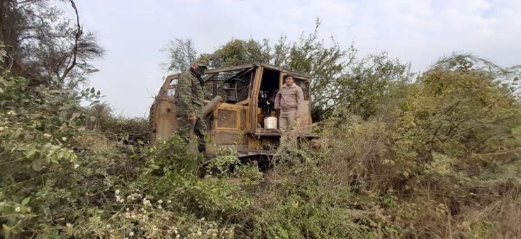 Chaco Pinedo detuvieron un desmonte ilegal en el departamento 12 de Octubre