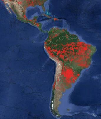 Fuego en America del Sur1