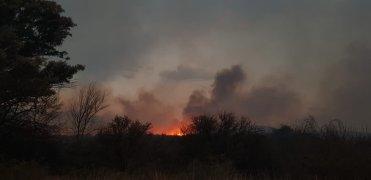 Fuego en Cordoba Argentina (Cosquin)
