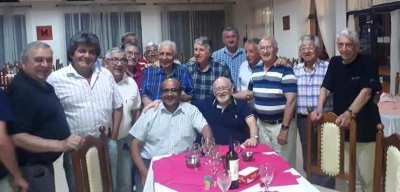 Hector Conte y ex trabajadores de la planta Celulosa Argentina 2019