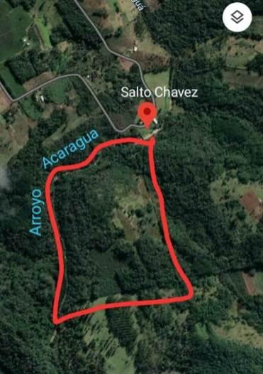 Mapa RN Privada El Salto Campo Grande