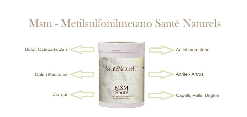 Msm o Zolfo organico riduce il dolore e le infiammazioni a livello osteoarticolare, ideale in situazione di dolori muscolari, artrite ed artrosi