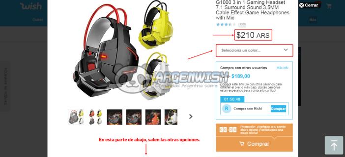 wish español comprar