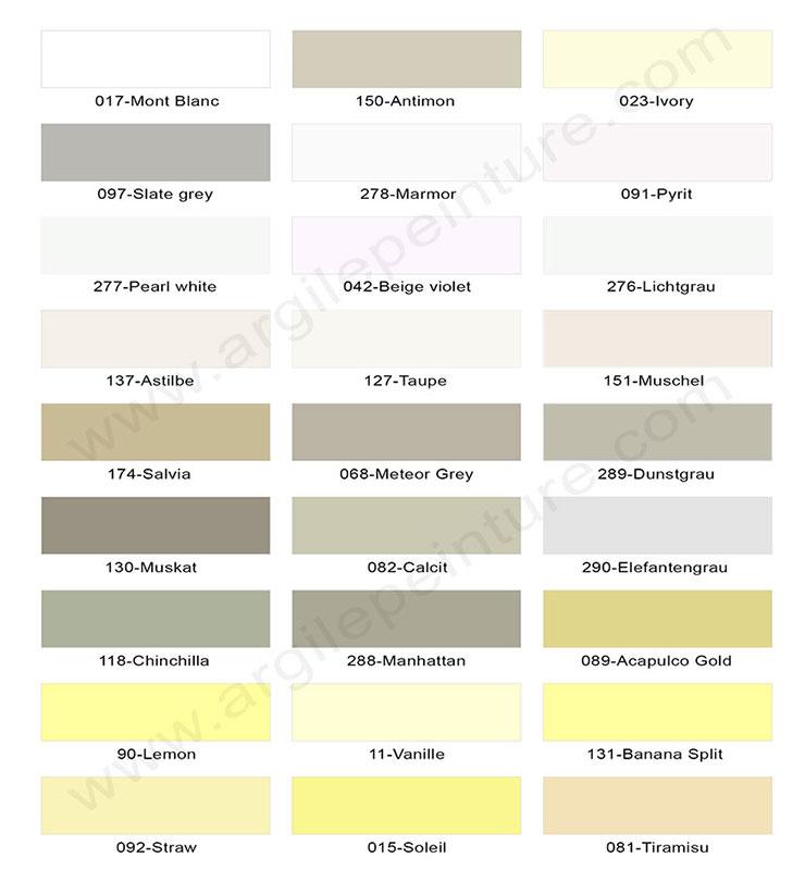 Couleurs Peinture Argile Et Laque Satine 165 Teintes 100