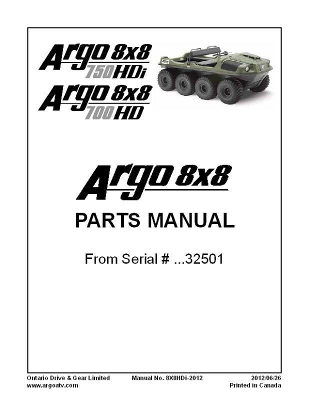 8X8HD700-2012 MANUAL, PARTS-8X8 HD 700-2012