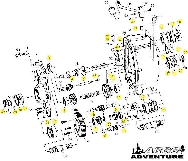 K-400 TRANSMISSION REBUILD KIT (BIGFOOT, CONQUEST