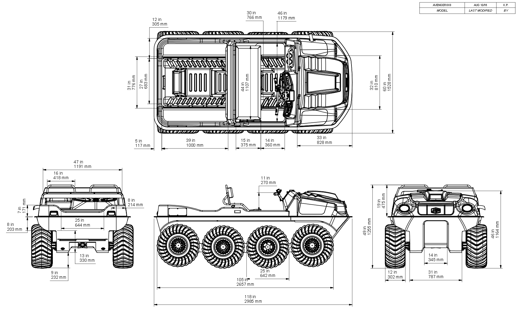 Argo Avenger 8x8 St