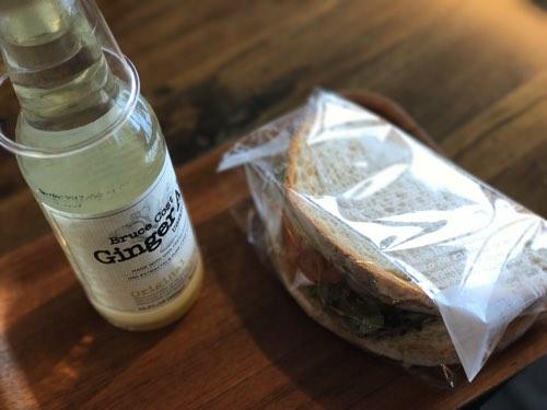 琵琶湖テラスのランチ サンドイッチ