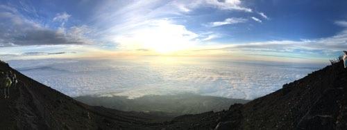 富士山山頂 ご来光