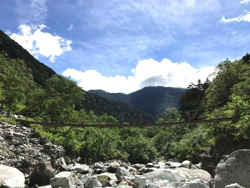 奥穂高岳登山 ルート 本谷橋