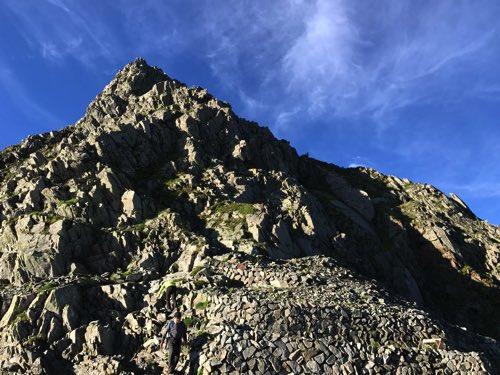 奥穂高岳 山頂アタック