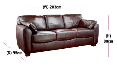 width of a sofa bed sofas with washable slipcovers measurement guide buying at argos co uk your to