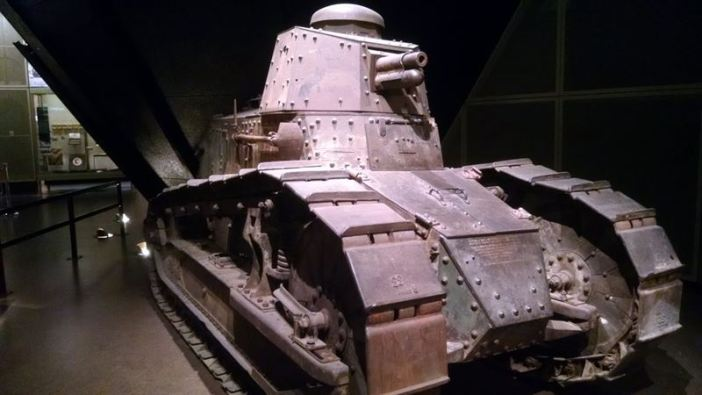In the American section of the exhibits is this Renault FT-17 tank.