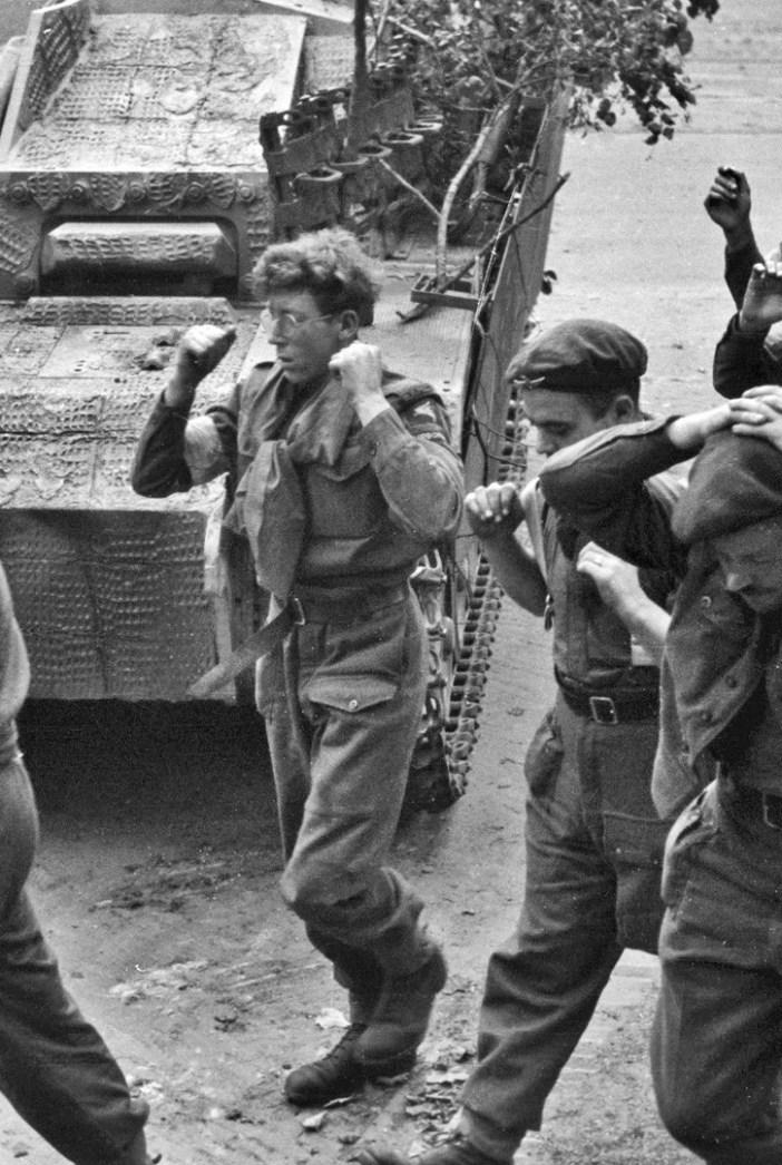 Captured British Paratroopers in Arnhem, 1944.