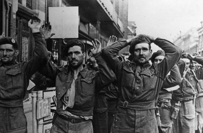 British POWs at Arnhem in September 1944.