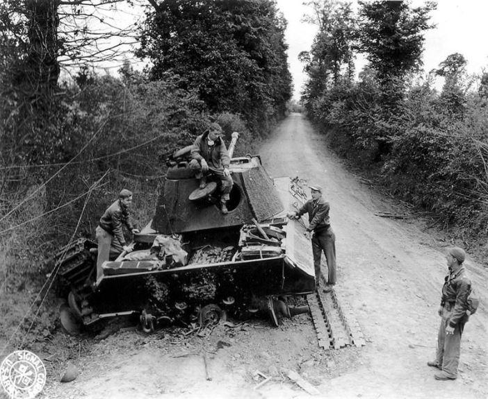 Destroyed Panther in Normandy