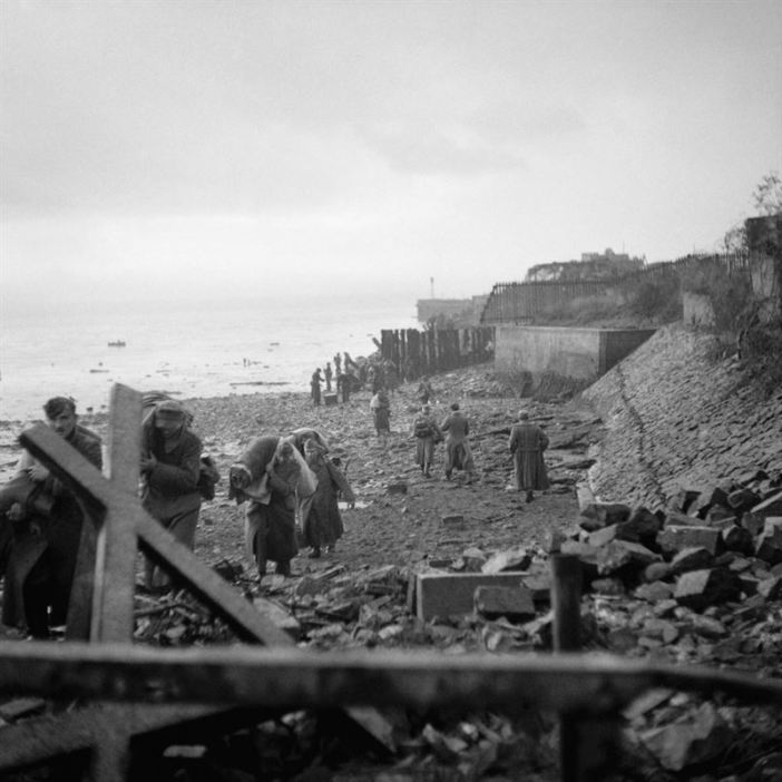 This scene on the Walcheren coast after the British landing has been effected.