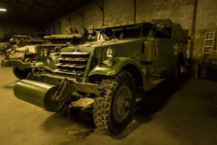M3A1 Scout Car - Hangar full of WW2 Vehicles, Tanks and Classic Cars (442 Explorations / Argunners Magazine) M26 Pacific